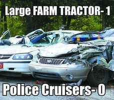 Large FARM TRACTOR-1Police Cruisers-0