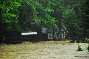 Home along the Williams River almost washed away.