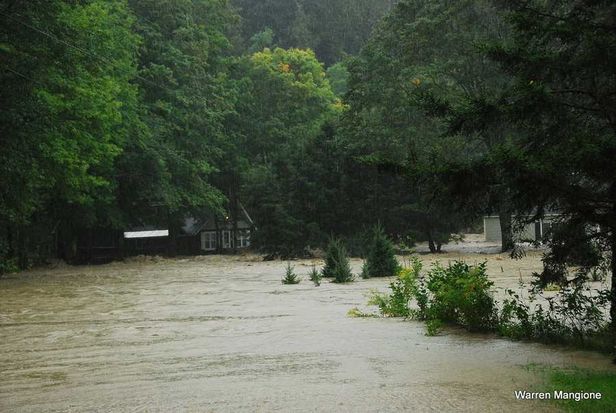 The Williams River during the height of the storm.