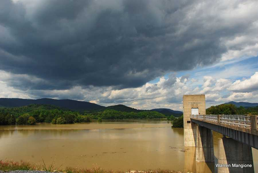 The day after the storm, the Springfield Dam recorded the water level at 78 feet.