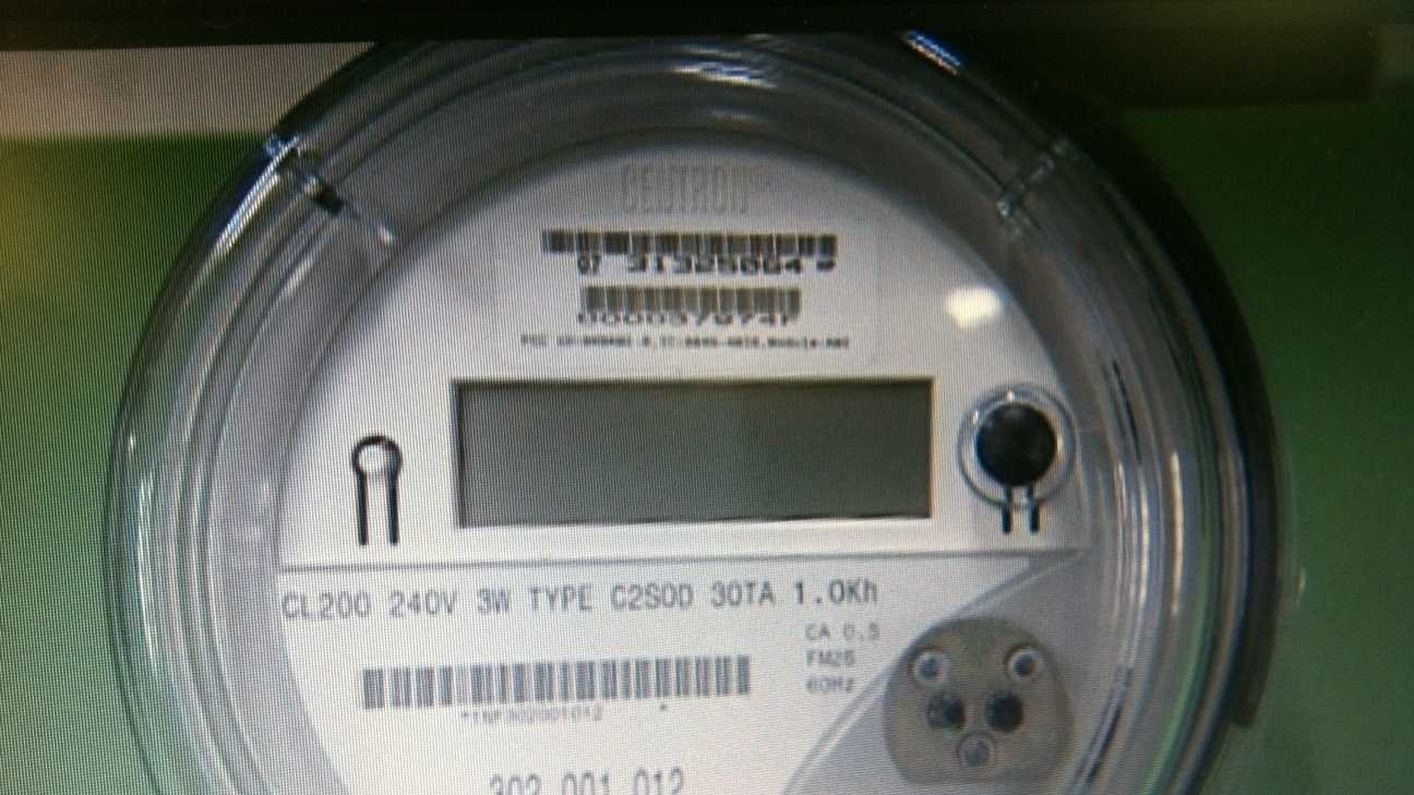 An example of a new digital 'smart meter'