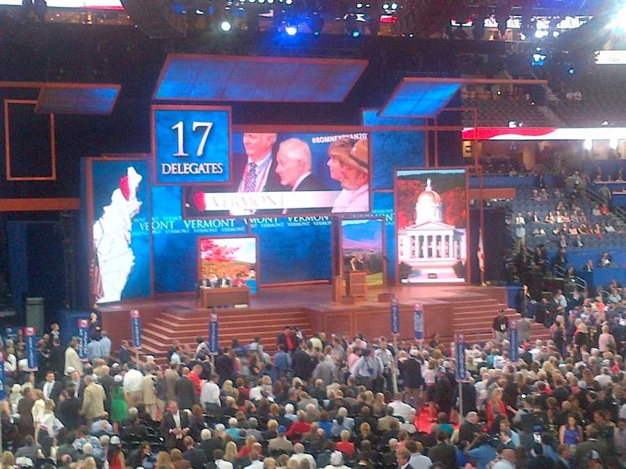 VT delegation committing their votes for Presidential Nominee at RNC.