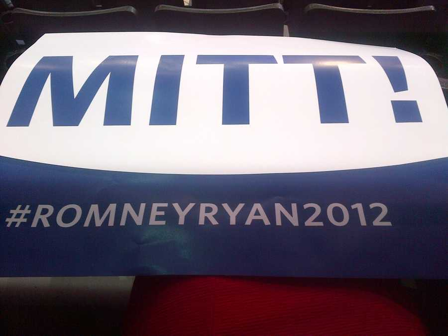 Mitt Romney sign at RNC.