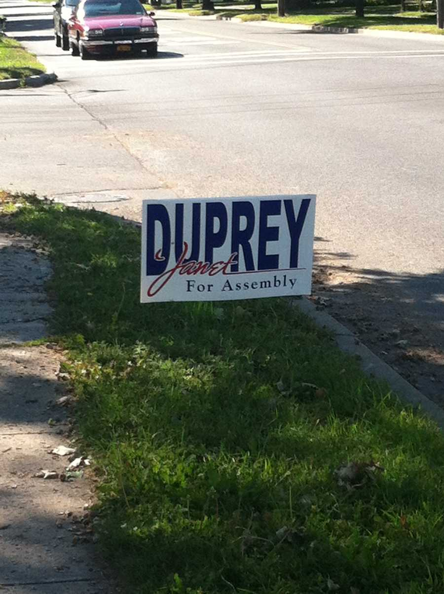Support for Janet Duprey along Oak and Boyton in Plattsburgh.