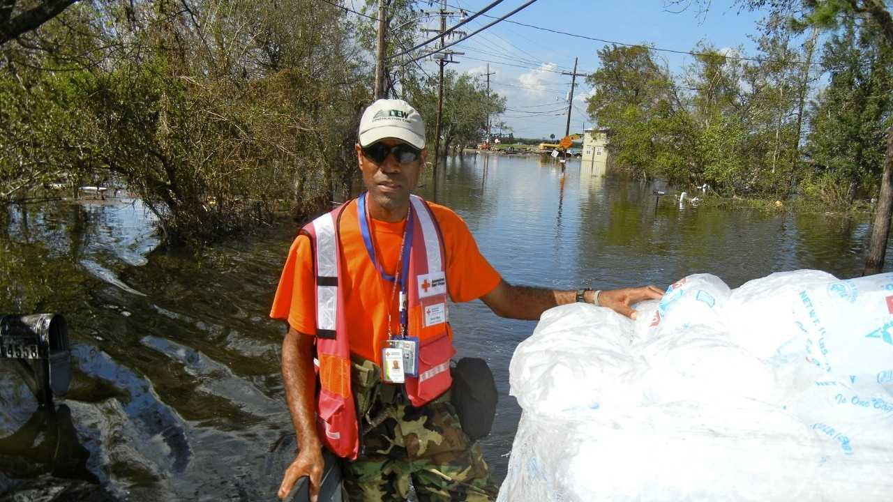 A Red Cross volunteer from Vermont is back from the Gulf Region after spending two weeks assisting residents recovering from Hurricane Isaac's wrath. Photo courtesy of David May