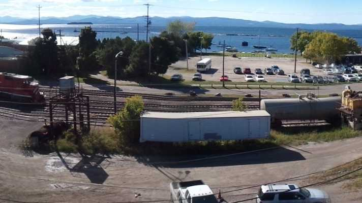A panorama view of lower Battery Street along the Burlington waterfront which could see a new road connecting to Pine Street and the Champlain Parkway.