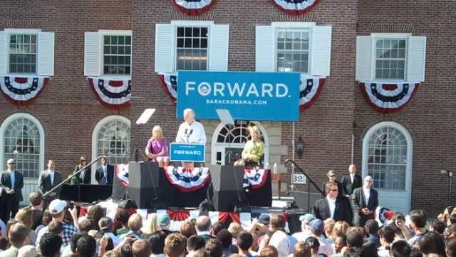 VP Joe Biden takes the stage.