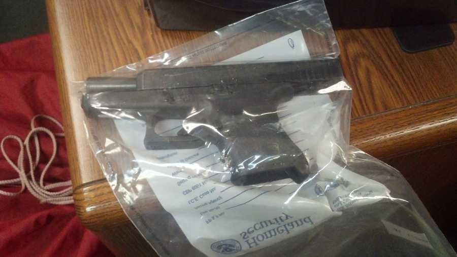 Gun collected as evidence