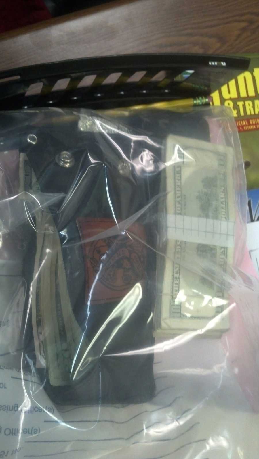 Money seized during Malone drug bust.