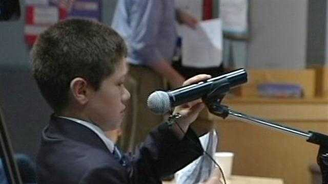 Middle schoolers ask candidates high-level questions