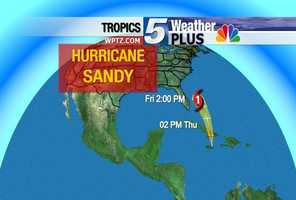 The storm is expected to intensify as it travels across the warm waters off of Florida.