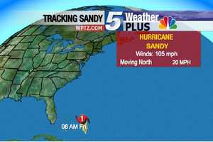 Friday, 8 A.M: Winds 105 MPH, Moving north at 20 MPH