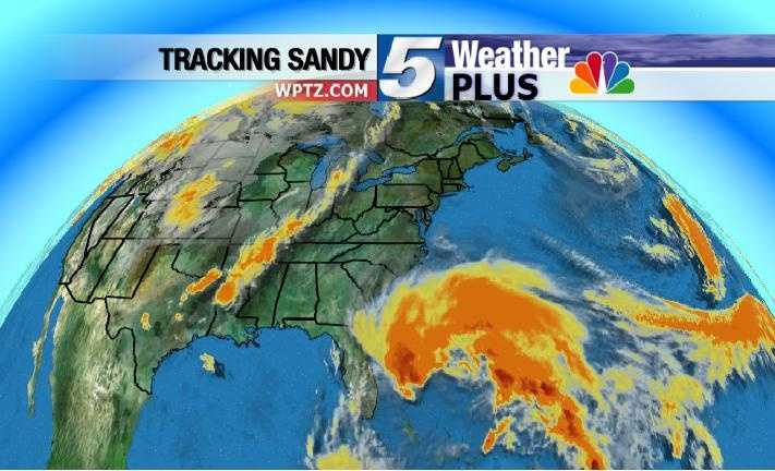 Wide view of Hurricane Sandy