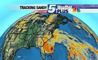 Tracking Sandy: Wide view of massive storm