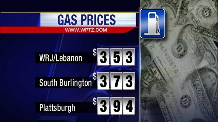 Typical pump prices Monday.
