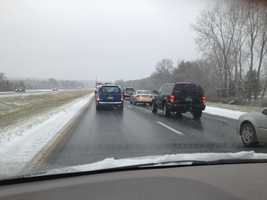 Facebook user Heather Legge Grimm submitted this photo of traffic congested on I-89 southbound in Georgia.