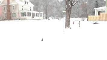 Rodney Kelley of Jeffersonville shared this photo of his snow-covered home.
