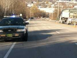 Authorities diverting traffic on Route 7.