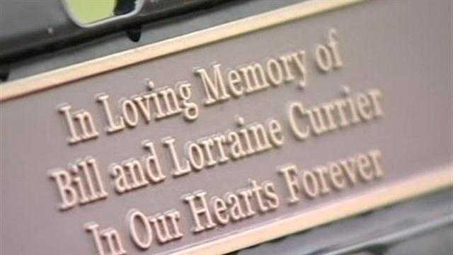 Bench dedicated to Bill and Lorraine Currier