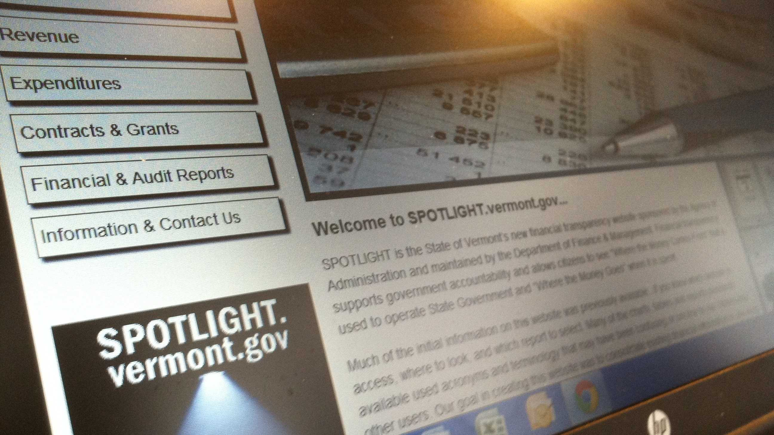 'Spotlight' and 'Governor's Dashboard' are new websites intended to speed access to information about Vermont and state government.