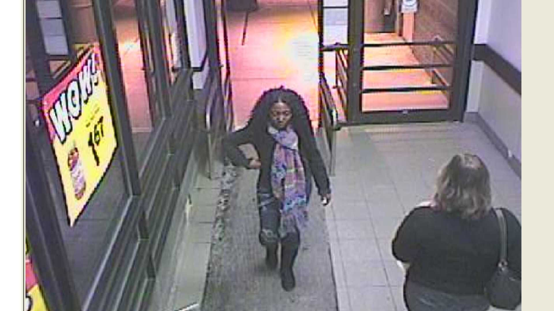 Williston Police released this photo of a woman they said charged $800 to a stolen credit card. Anyone with information is asked to call police at 802-878-6611.