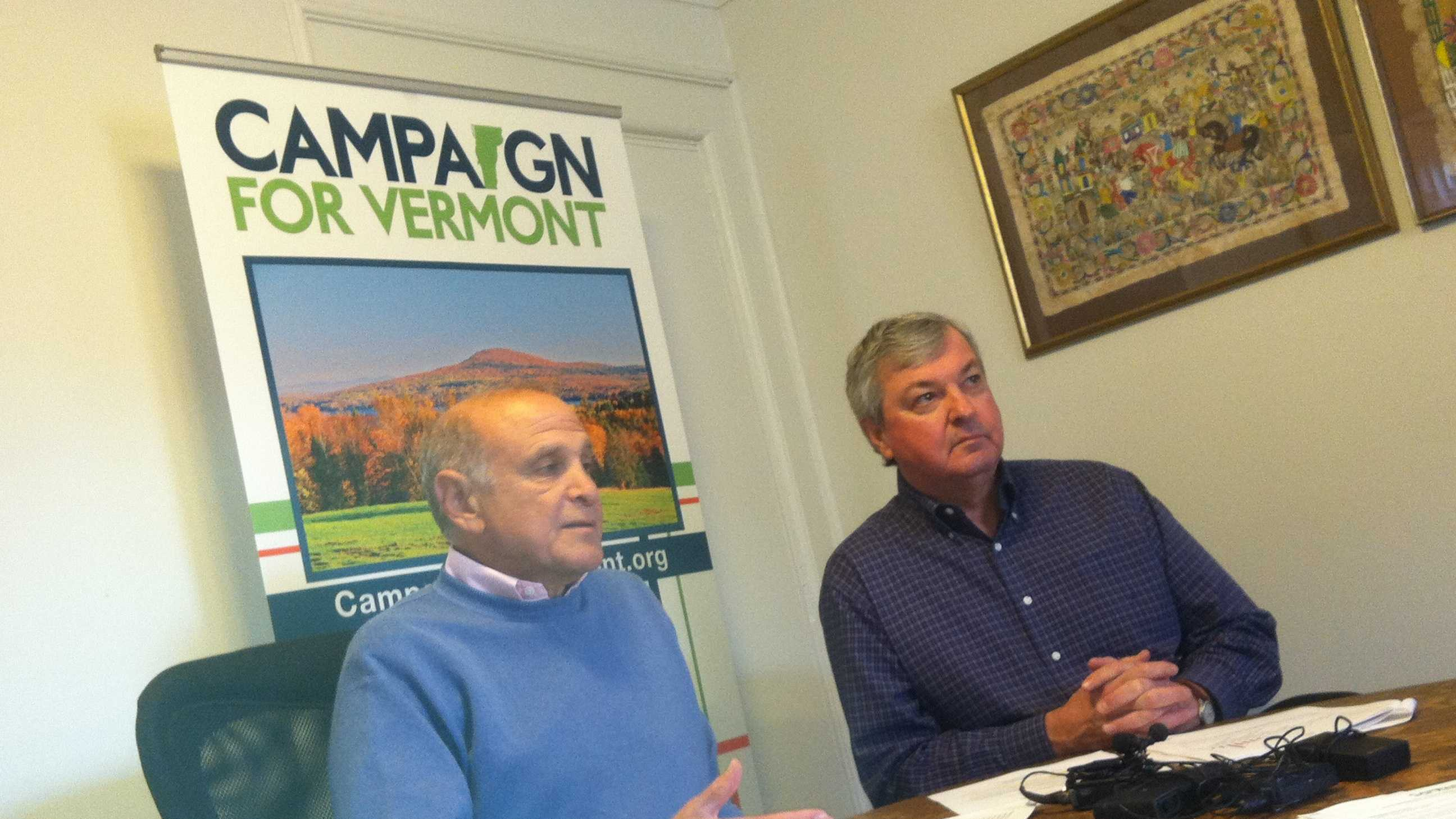 Campaign for Vermont co-founders Bruce Lisman and Tom Pelham.