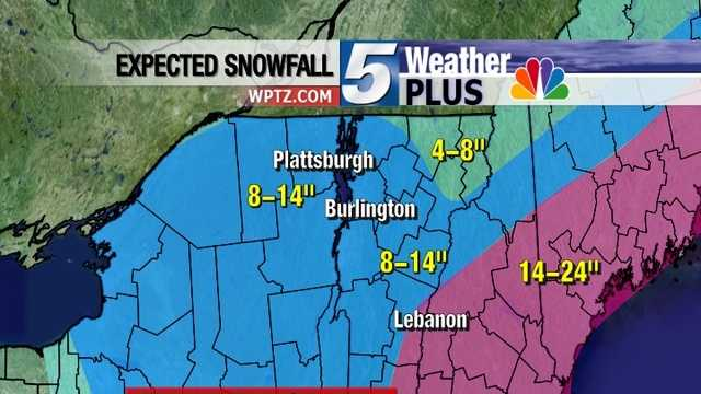 Here's the snow accumulation forecast.