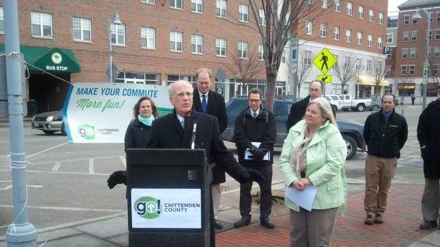 U.S. Rep. Peter Welch takes part in the Go! Chittenden County launch Friday in Winooski.