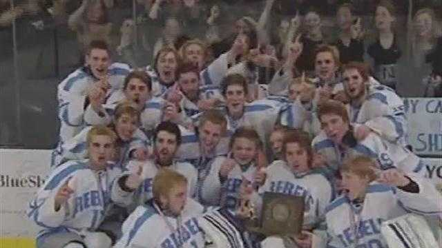The boy's high school hockey championships were handed out in D1 and division 2.