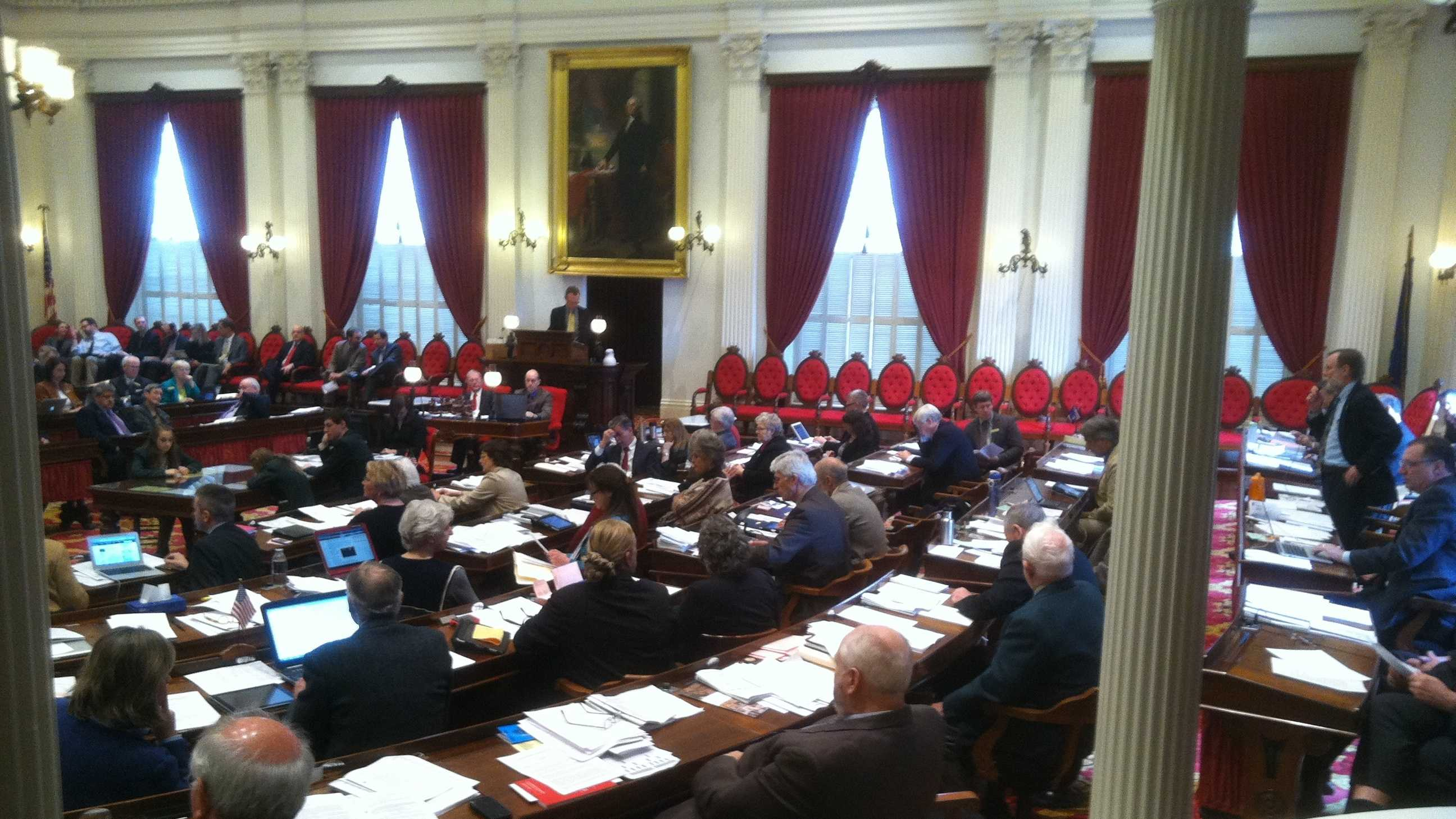 The Vermont House passed tax and spending bills in a marathon session Thursday.