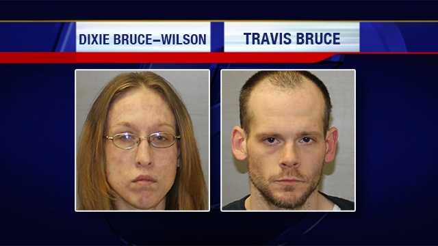 Dixie Bruce-Wilson and Travis Bruce, both of West Chazy, were arrested and charged on Wednesday for their alleged involvement manufacturing meth at a home in West Chazy.