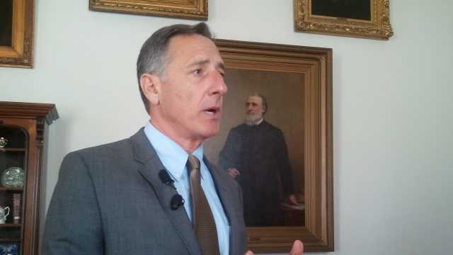 Gov. Shumlin briefs reporters Thursday on the impact federal sequestration will have on the state budget.