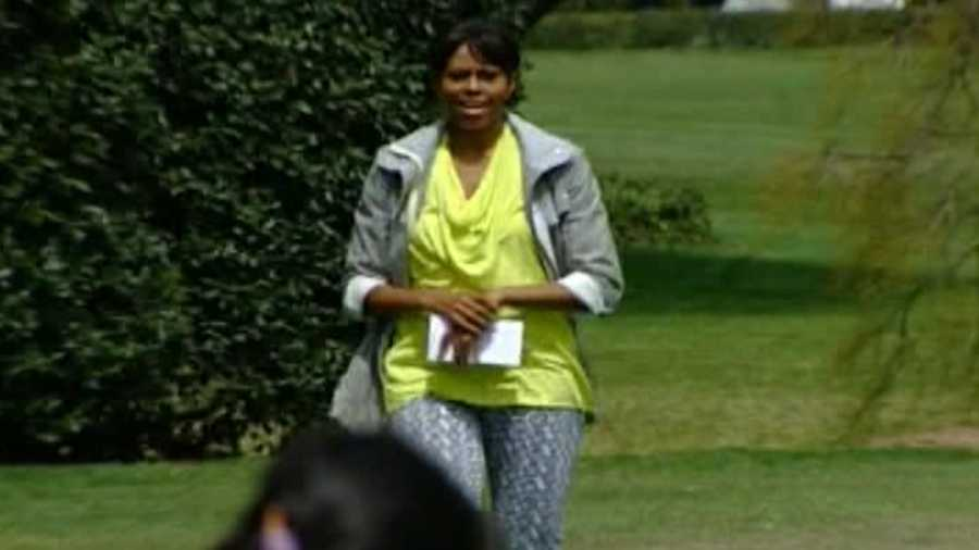 First Lady Michelle Obama shared the spotlight Thursday.