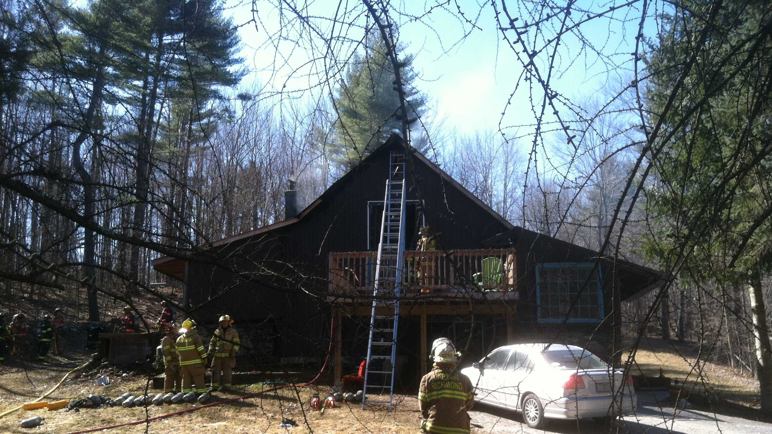 A single family home at 280 Collins Mountain Road in Richmond burned Saturday afternoon.