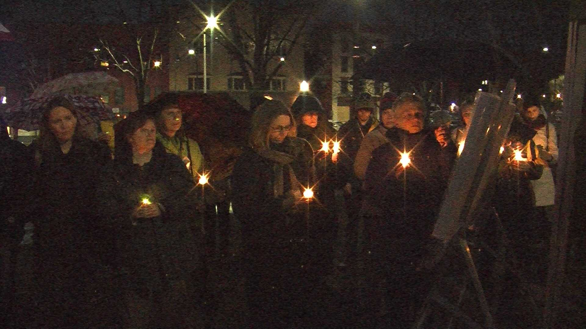 A group of Vermonters gather to remember victims of gun violence and to continue their call for political action.