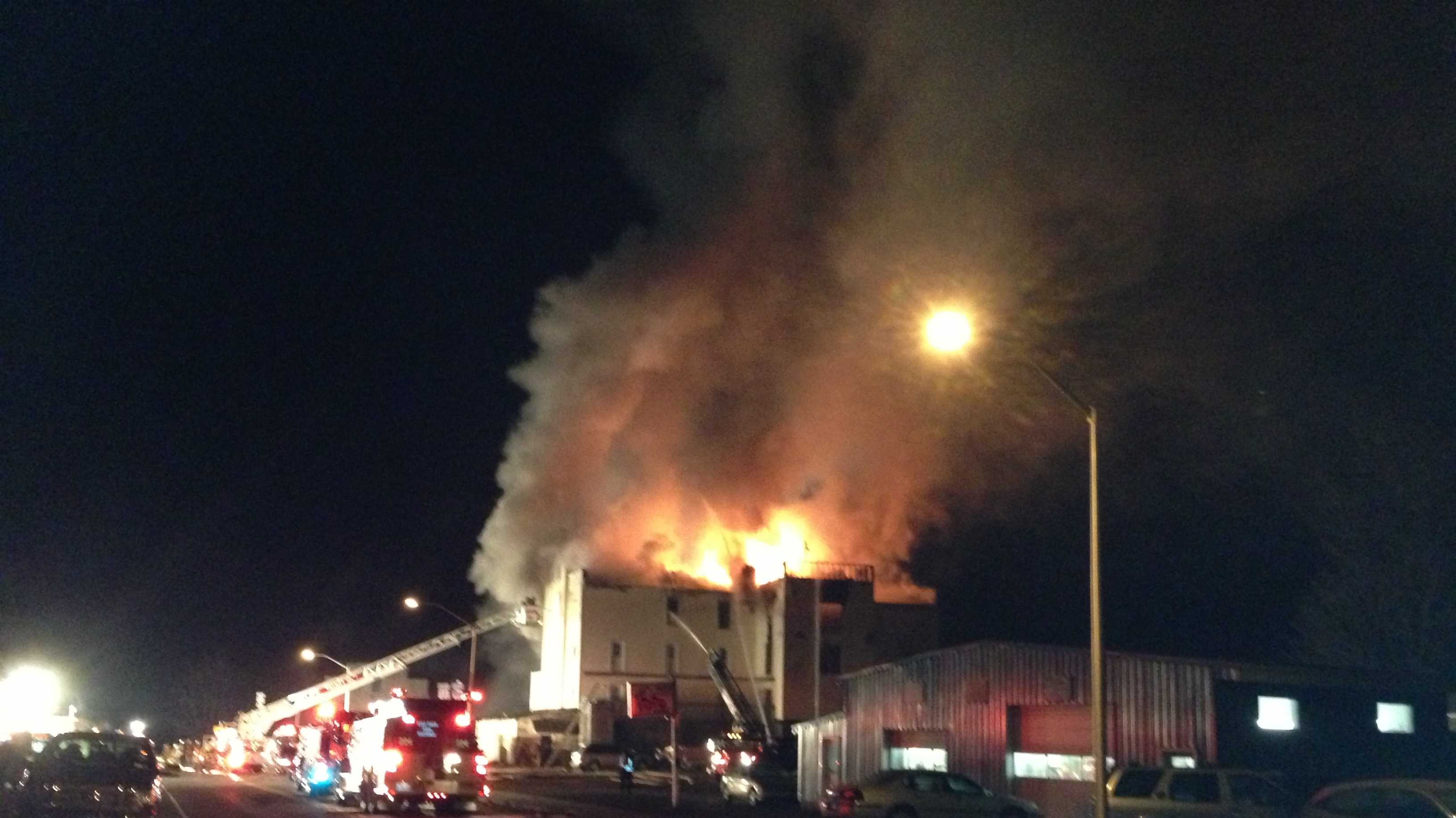04-22-13 Fire breaks out at apartment complex - img