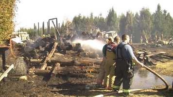 A barn and 3 acres were scorched by fire Wednesday afternoon in East Montpelier. No one was hurt.