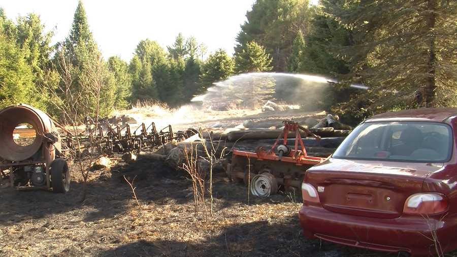 A barn and 3 acres were scorched by fire Wednesday afternoon. No one was hurt.