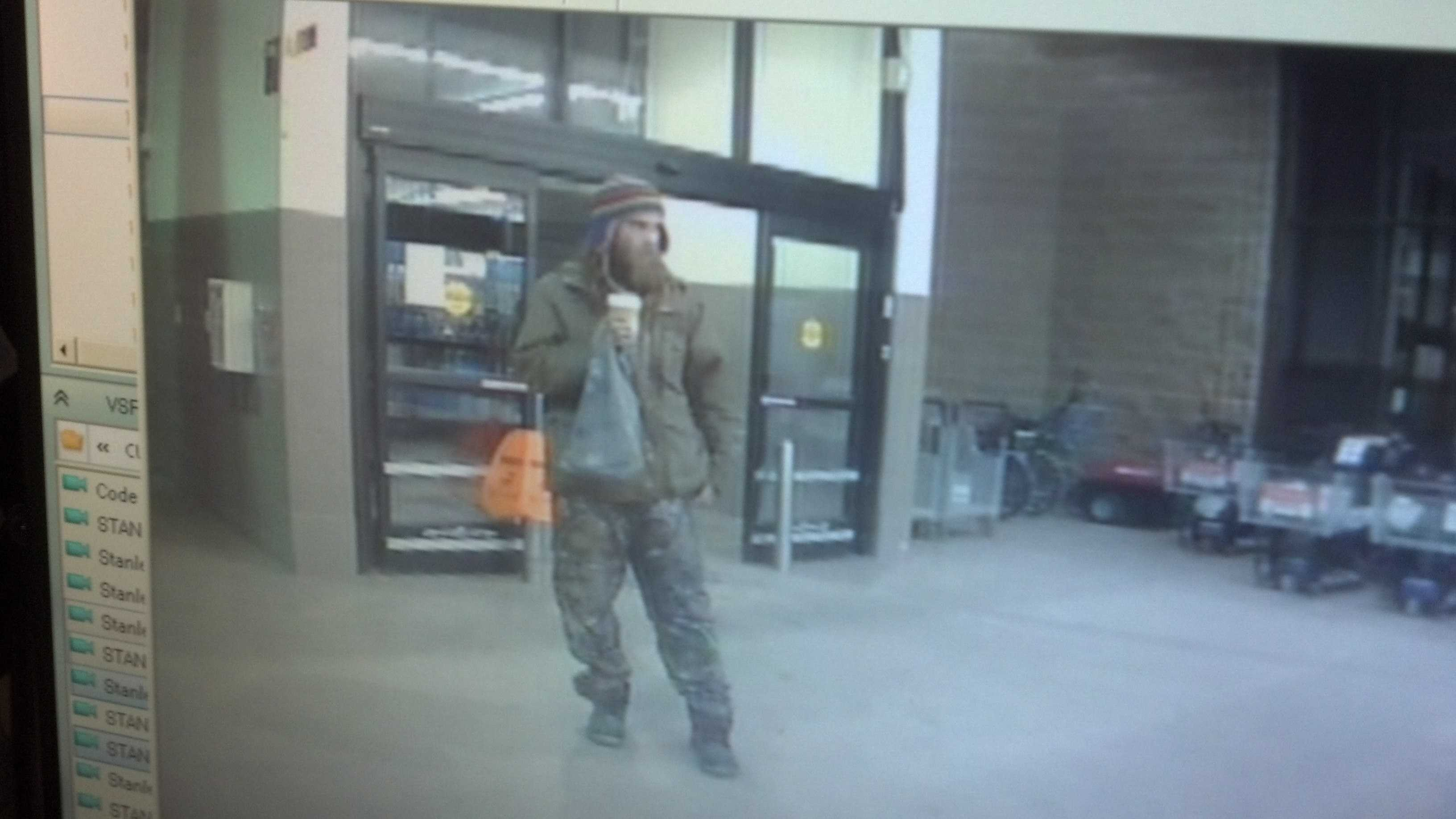 Police in Berlin, Vermont are looking for this man. He is suspected of stealing electronics from Walmart.