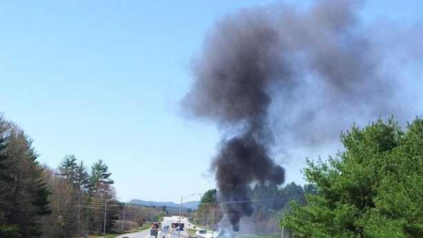 05-03-13 Oil tanker truck burns on Route 12 in Keene - img