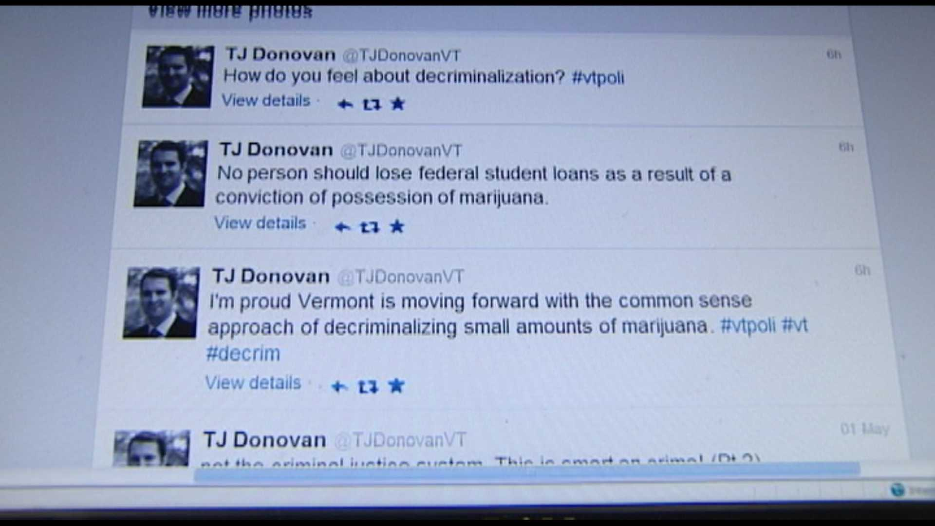 The Vermont legislature is getting closer and closer to letting people caught with a small amount of marijuana pay a fine, instead of going to jail. One of the proposal's major supporters might surprise some.