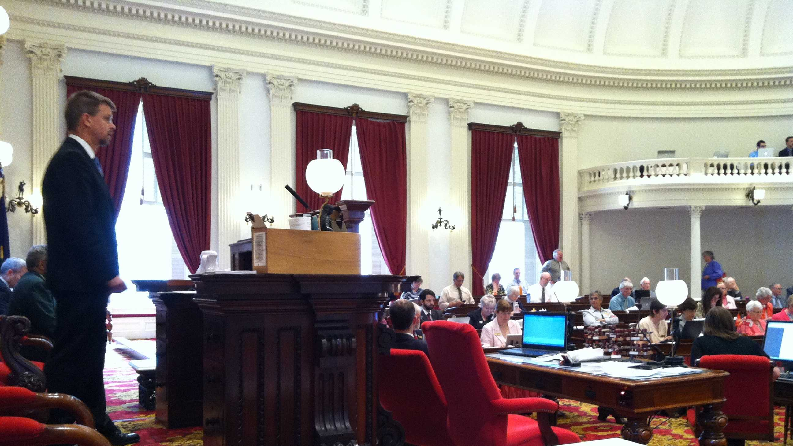 Speaker of the House Shap Smith presiding over Thursday's session.