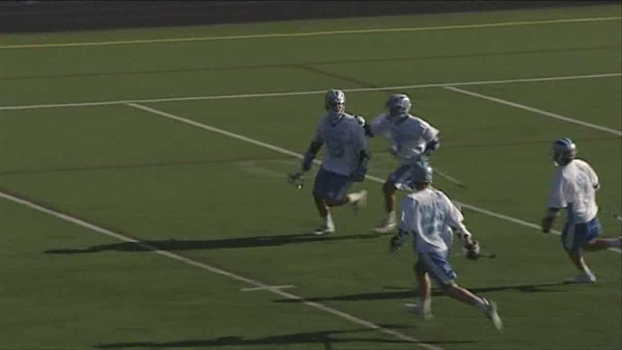 The South Burlington boy's lacrosse team comes back to beat Woodstock.