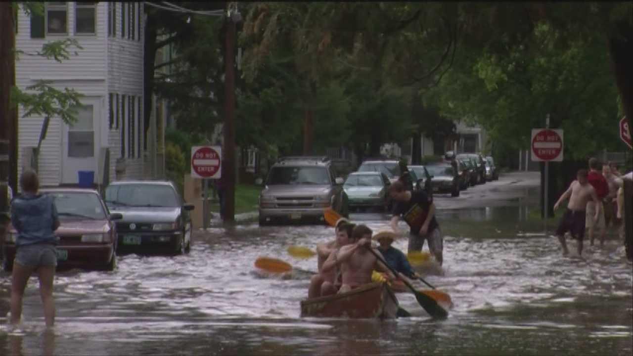 Graduates find fun in flood
