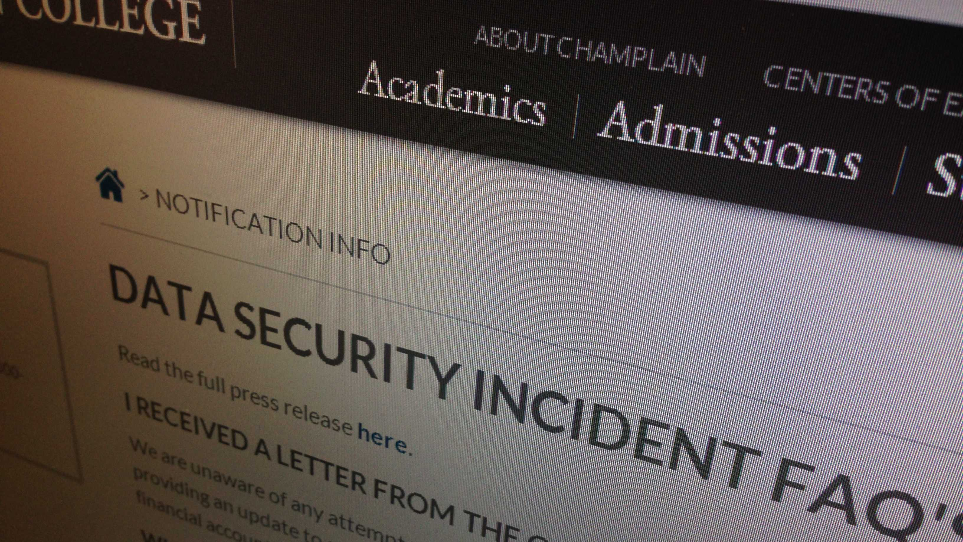 A Vermont college is offering data protection services to more than 14,000 students and their families after a computer drive containing their Social Security numbers and other data was left unsecured in a computer lab.