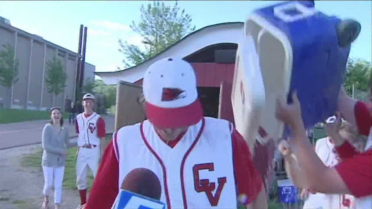 The CVU baseball team completes their comeback in walk off fashion.