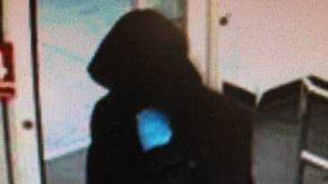 Surveillance photo of a man suspected of robbing the CVS in Hanover, N.H. on Wednesday night.