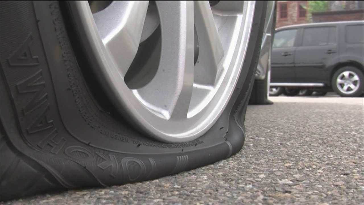 Burlington police are looking for information on a rash of tire slashings and other vandalism.