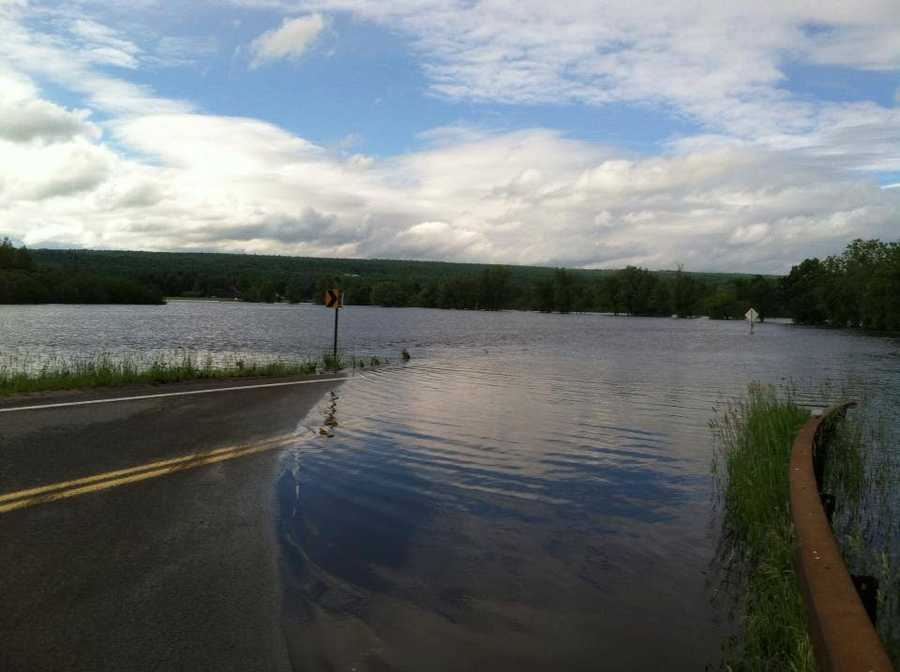 Clinton, Essex and Franklin counties in New York were hammered by heavy rains which spurred flooding.  Multiple roads were flooded or deemed hazardous for travel.