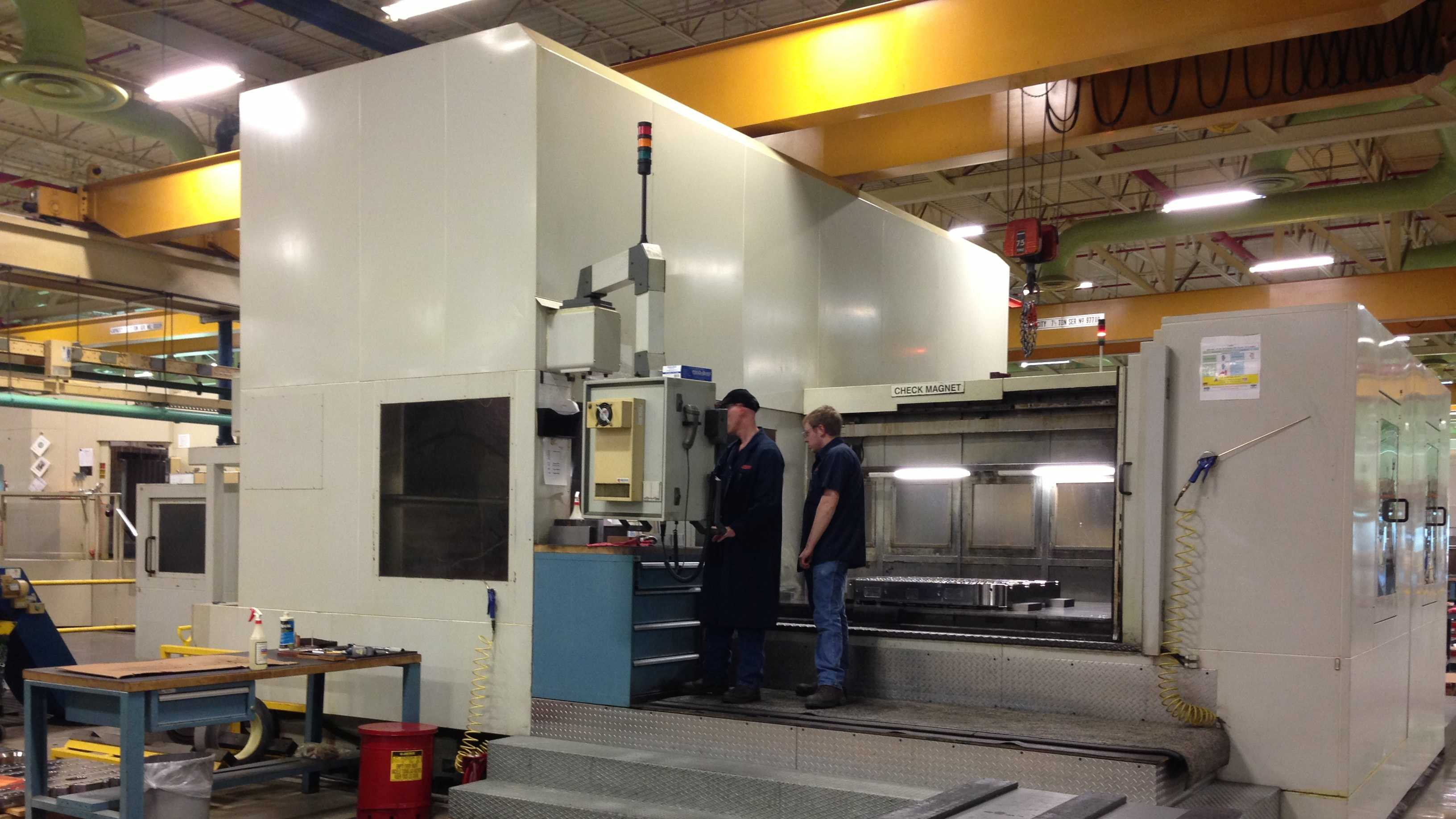 Inside the sprawling Husky Injection Molding Systems plant in Milton.